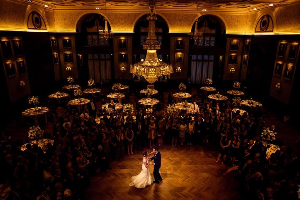 Daniel Moyer Photography, bride and groom first dance at the union league wedding