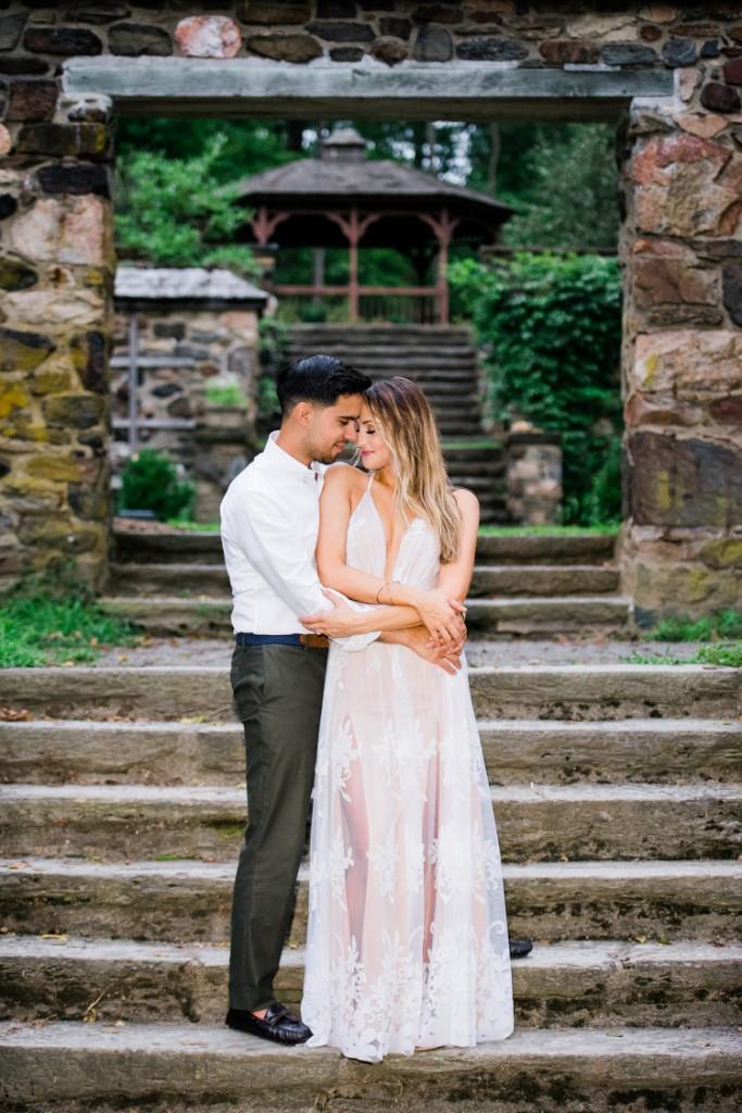 bride and groom embrace, J&J Studios
